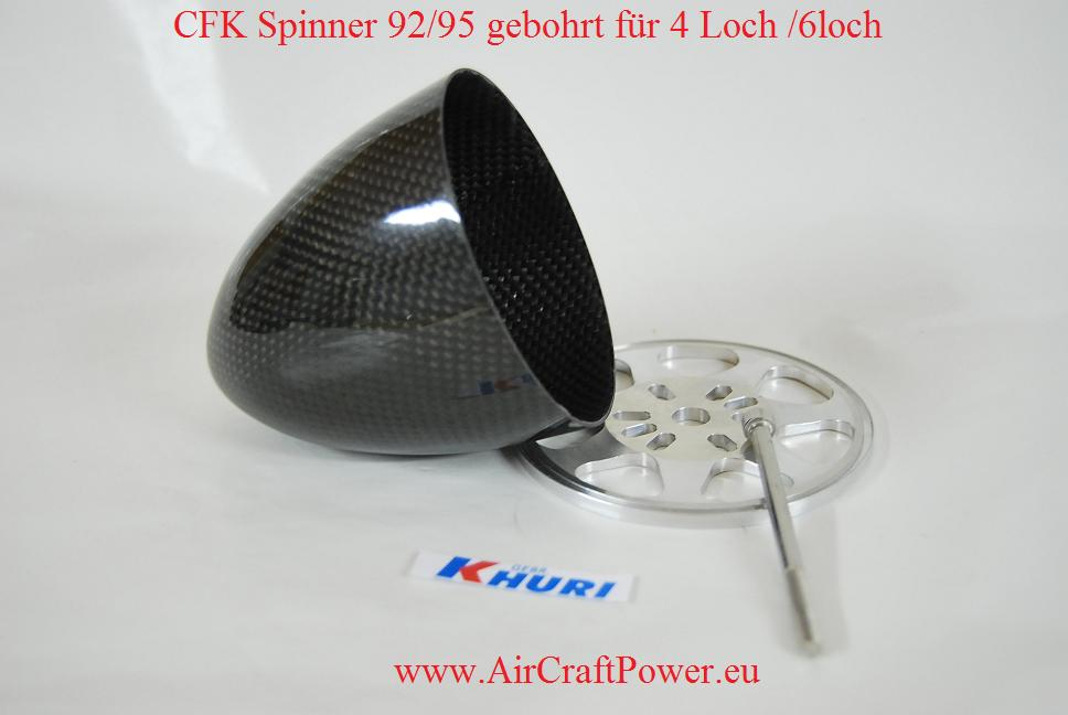 Premium CFK Spinner in CFK Sichtkohle ø 92/95 mm